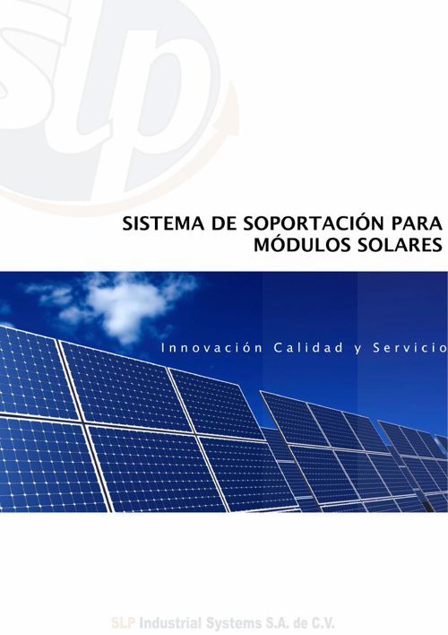 SLP INDUSTRIAL SYSTEMS CATALOGO PANELES SOLARES
