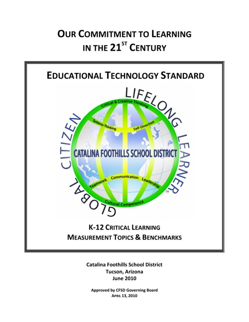CFSD16 Technology Standards and Benchmarks