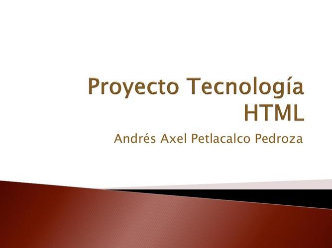 Proyecyo  Axel Tecnología HTML