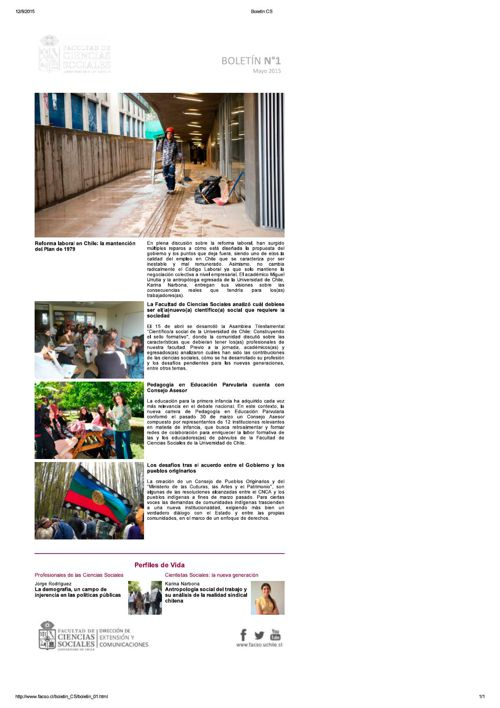 Boletín FACSO 2015