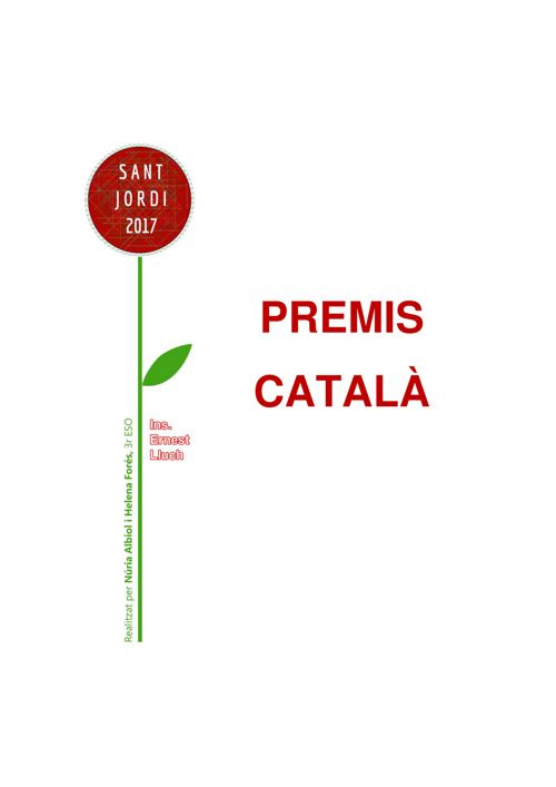 PremisPoesia i Prosa Català 2017