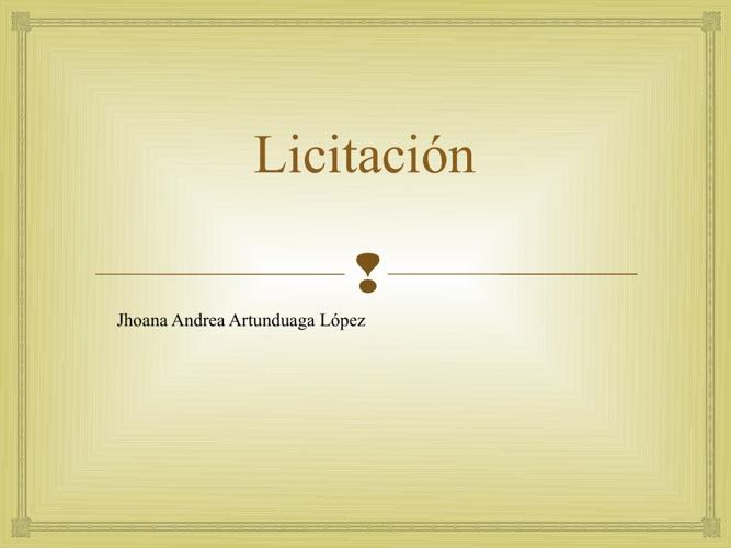 LICITACIÓN
