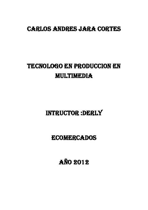 CRONOGRAMA DE ECOMERCADOS