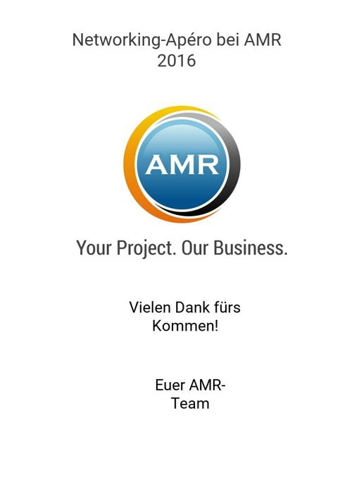 Networking-Apéro bei AMR 2016