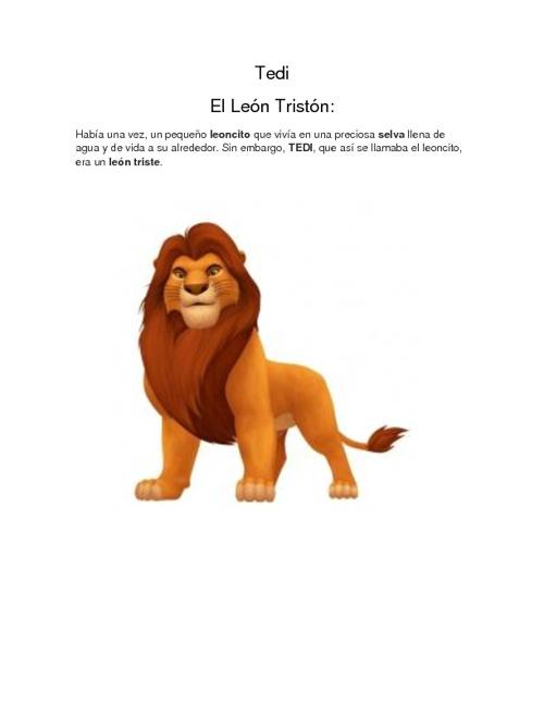 TEDI EL LEON TRISTON
