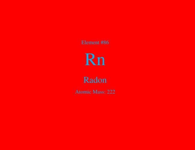 Radon Element Research Project