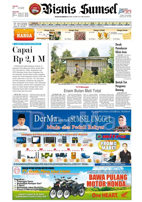 Radar Palembang Edisi 18-03-2013 Koran 2