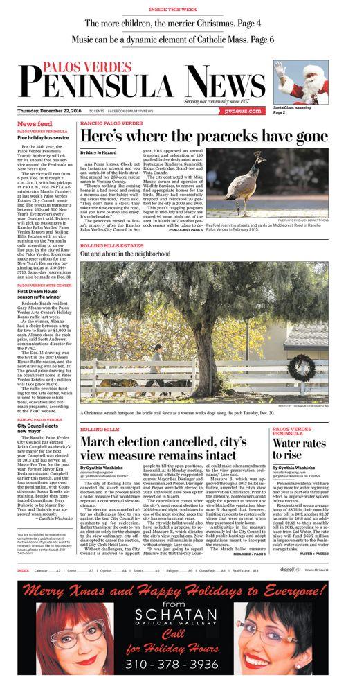 Peninsula News | December 22, 2016