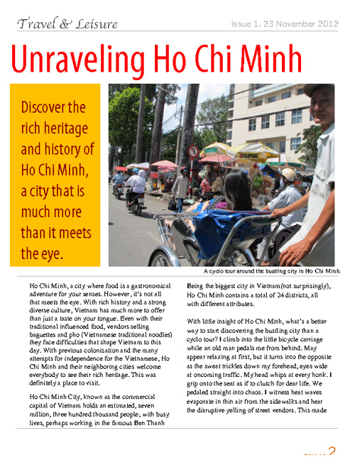Unraveling Ho Chi Minh - Travel Writing