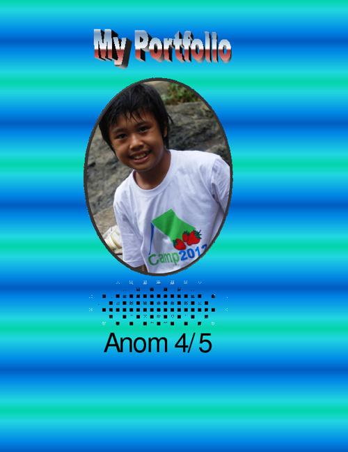My Portyfolio Anom. Year 5