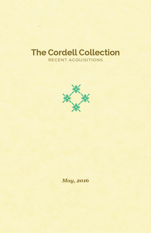 Cordell Recent Acquisitions 05-2016