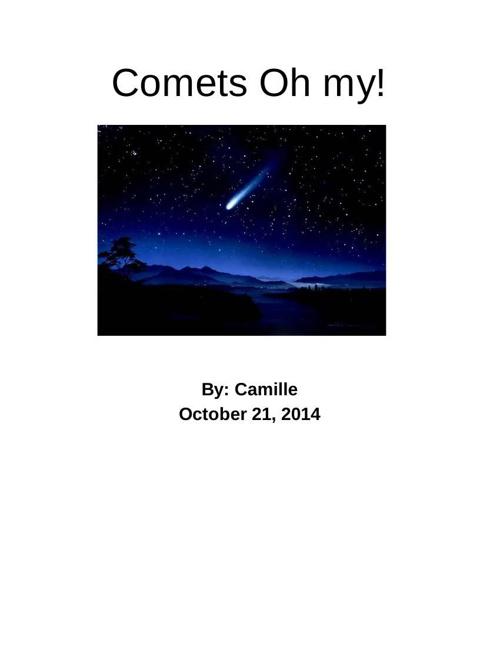 Comets - Camille Goldberg - Google Docs