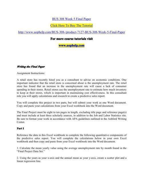 HSM 311 Week 5 Final Research Paper