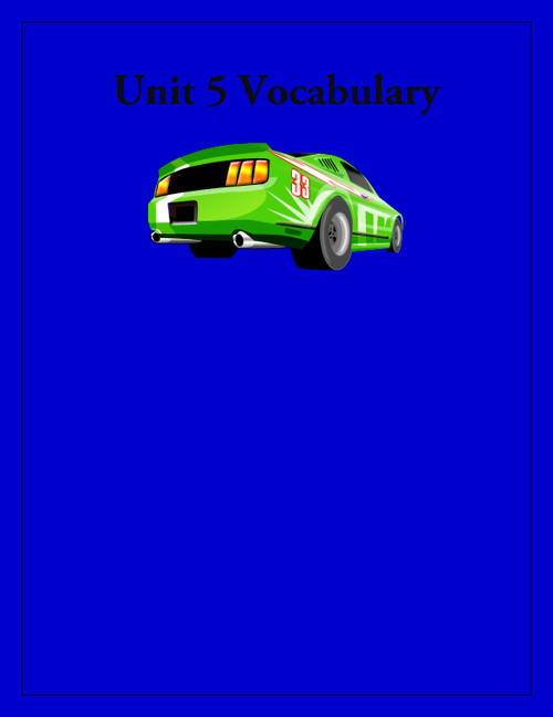 Unit 5 Vocabulary