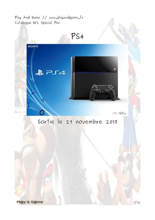 Catalogue N°2 : Spécial PS4
