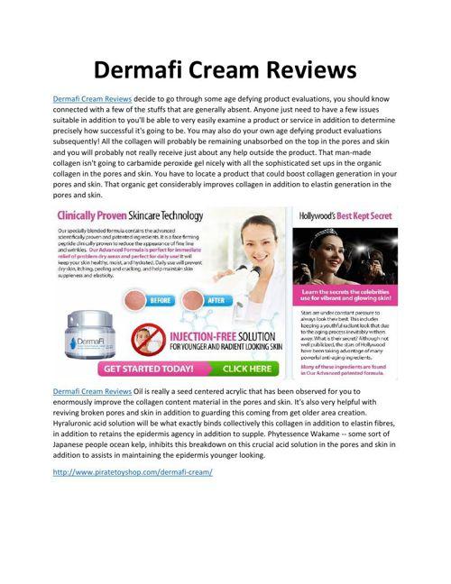 Dermafi Cream Reviews