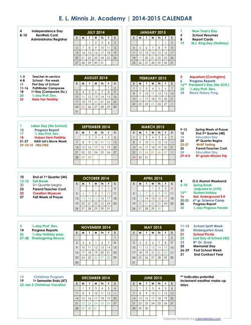 ELM2014-15calender