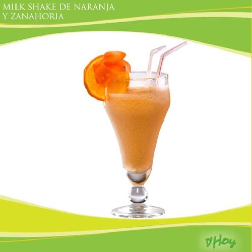 Milk Shake de Naranja y Zanahoria D`HOY