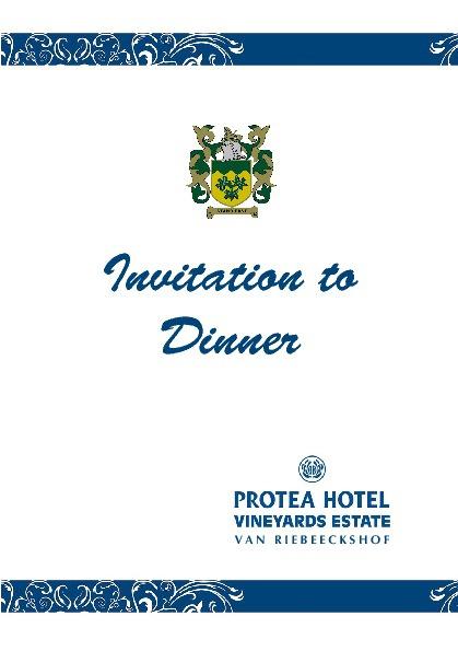 SGB Dinner invite