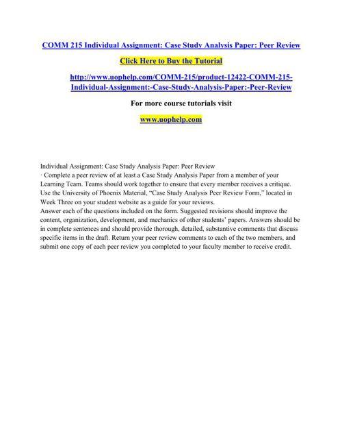 COMM 215 Instant Education/uophelp