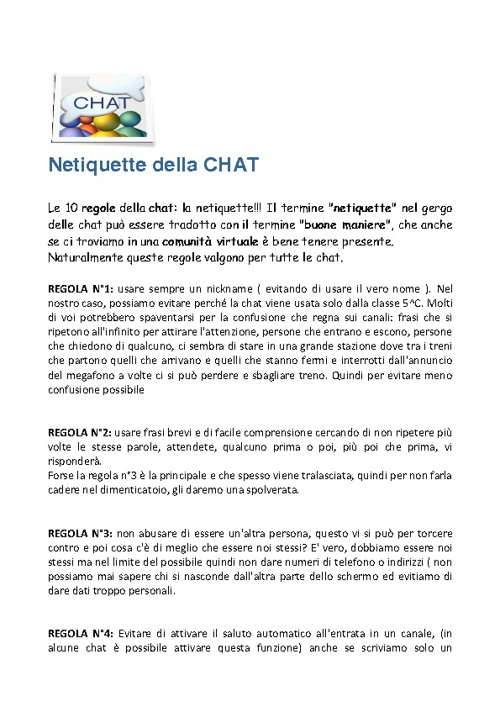 Copy of Netiquette in chat