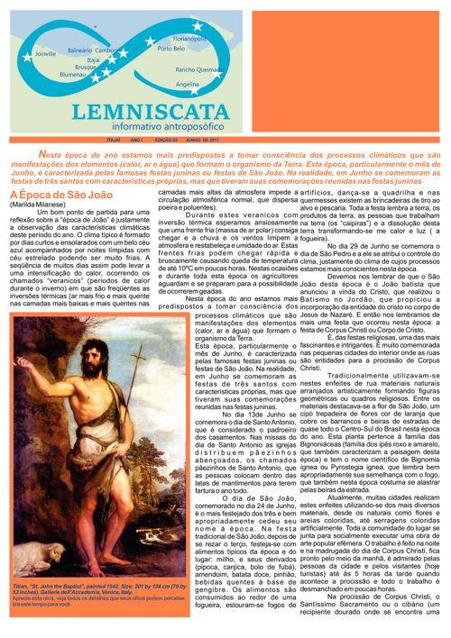 3 Edição - Lemniscata  Informativo Antroposófico