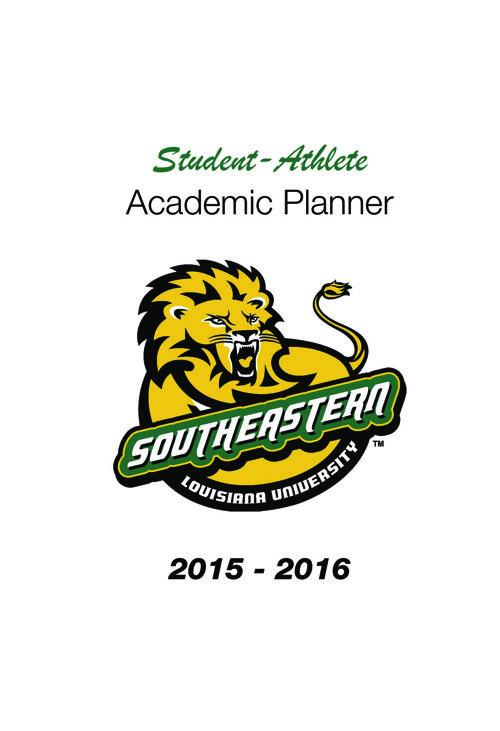 College Planners_2015-2016 Southeastern Louisiana University