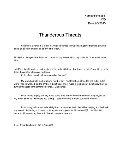 Thunderous Threats