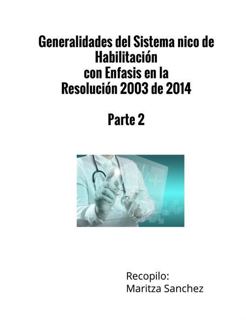 Sistema Único de Habilitación en Salud