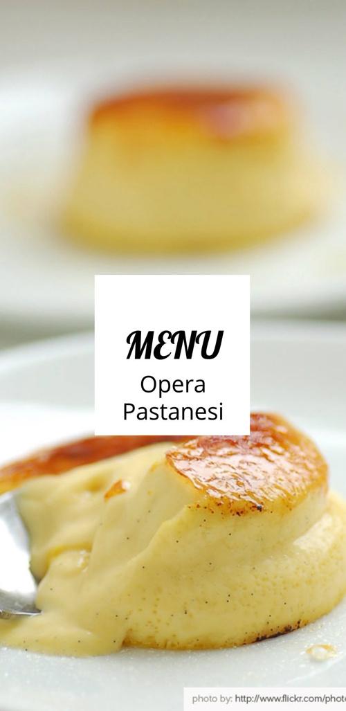 Opera Pastanesi Menü 2014