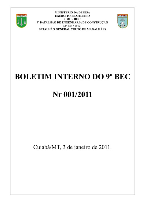 Boletim Interno (BI)