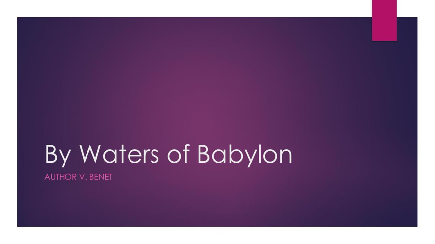 By Waters of Babylon