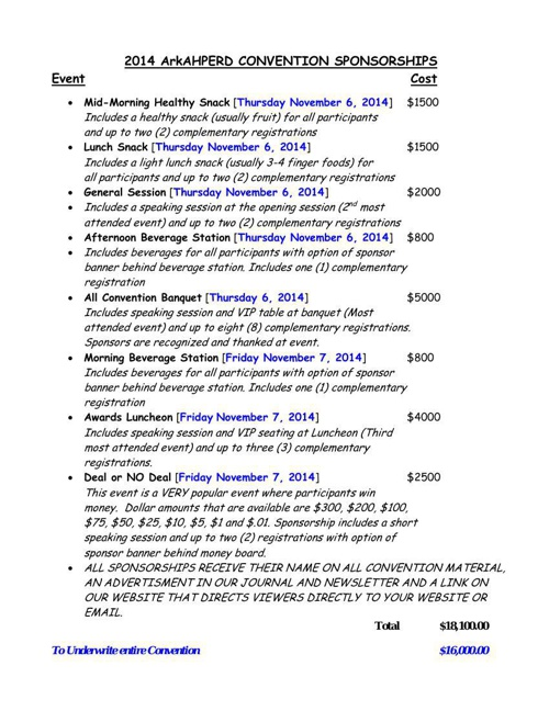 Sponsorship cost