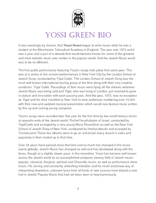 yossi green bio