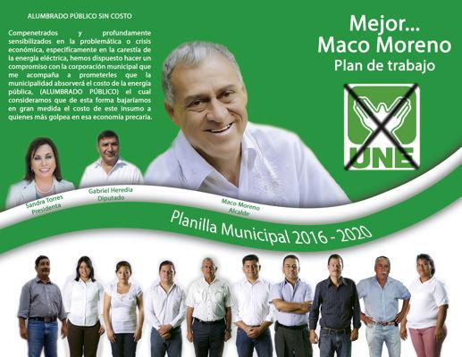Plan de Gobierno Mejor Maco Moreno.