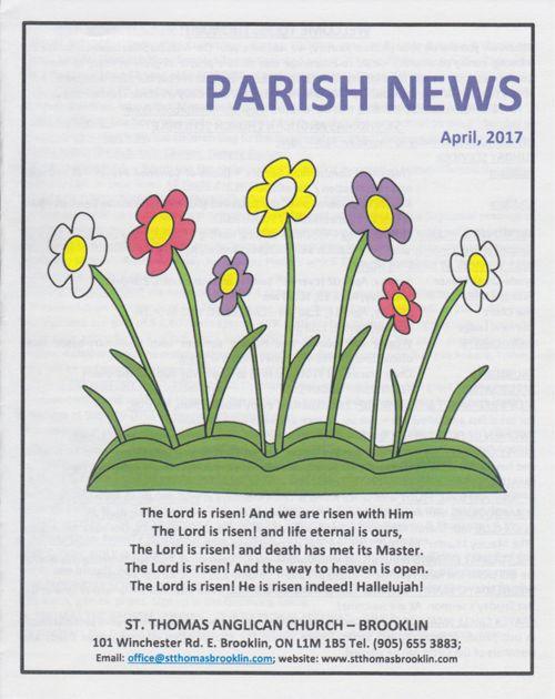 St. Thomas' Parish News April 2017