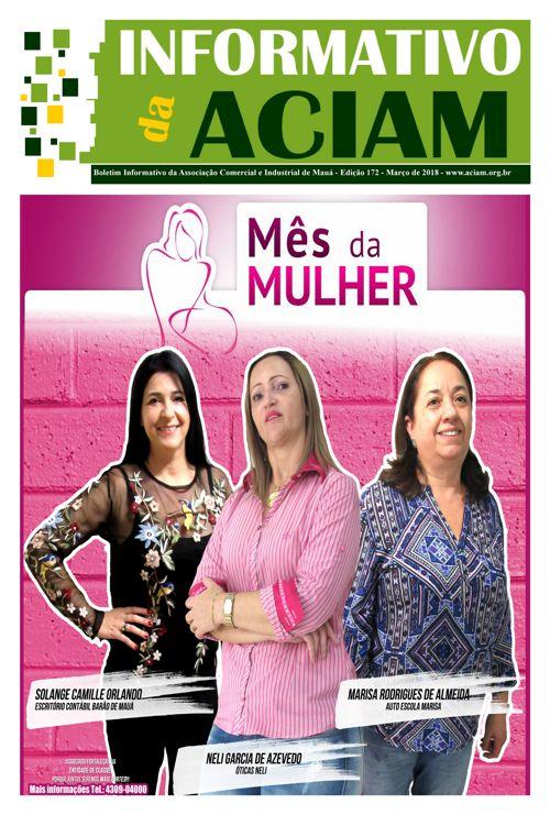 Informativo Março -  Mês da Mulher