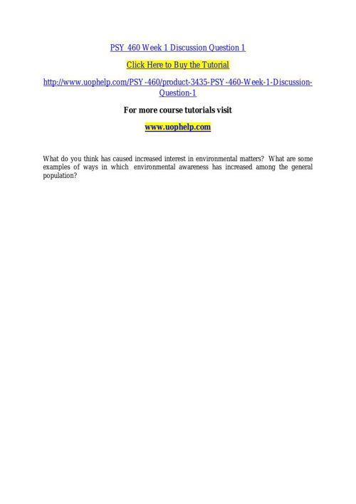 PSY 460 ACADEMIC COACH / UOPHELP
