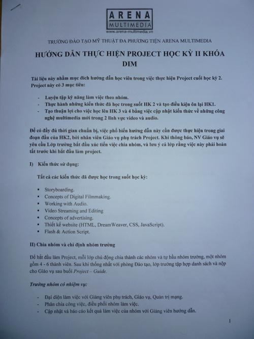Huong Dan Do An Hoc Ky 2 Arena