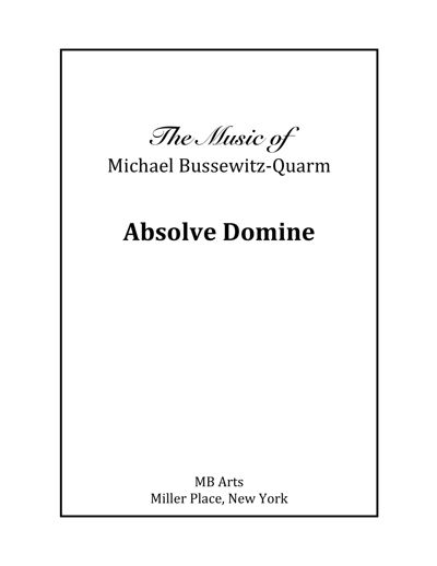 DRAFT Absolve Domine SATB Voices and Piano