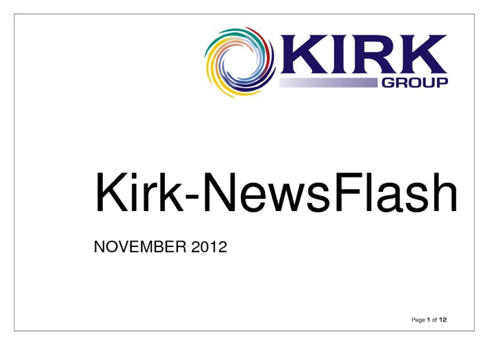 Autumn 2012 Kirk-NewsFlash