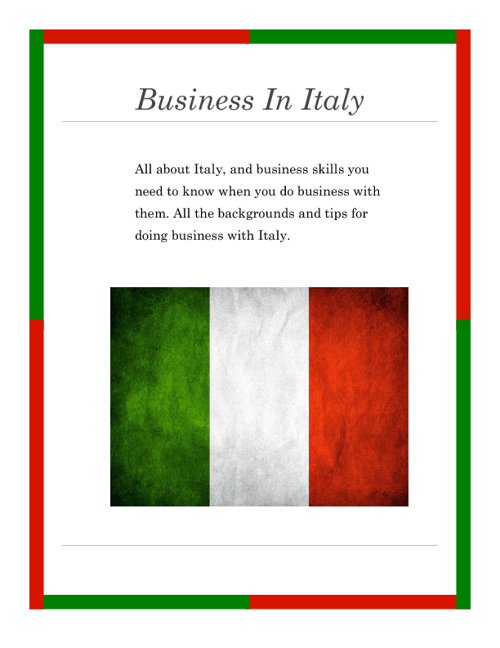 How to do business in Italy