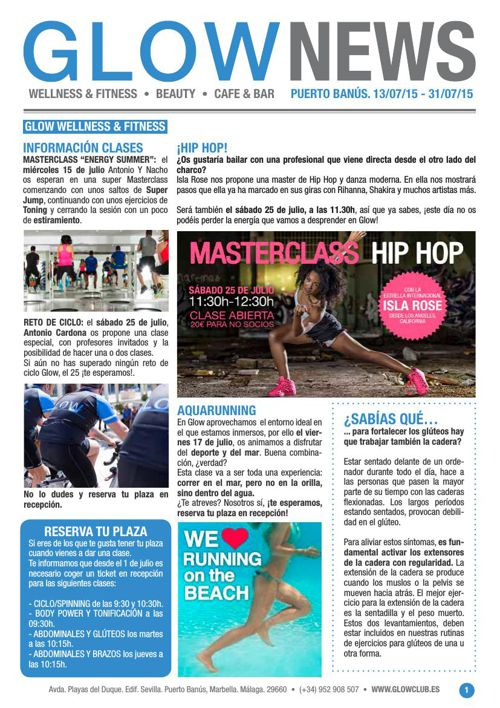 Revista Glow Marbella 15/07 al 30/07
