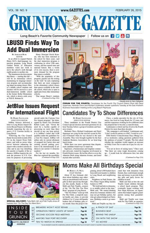 Grunion Gazette | February 26, 2015