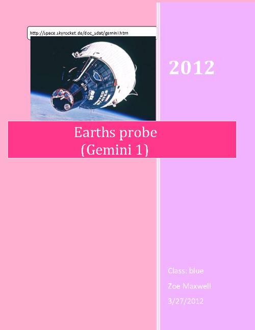 Earths Probe (Gemini 1)