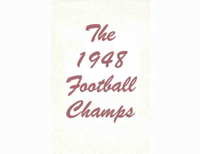 The 1948 Football Champs