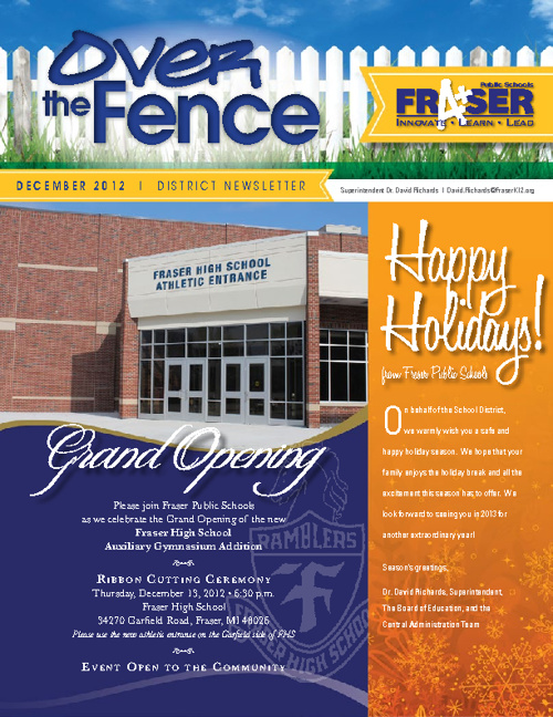 December 2012 Over the Fence Newsletter