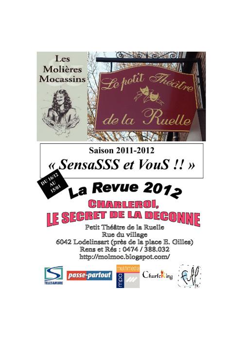 Parolier de la Revue 2012: Charleroi, le Secret de la Déconne!!!