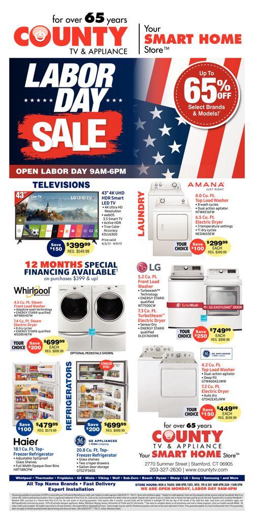County TV - Labor Day Sale!