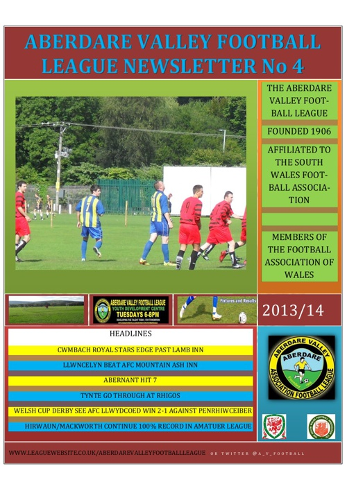LEAGUE NEWSLETTER ISSUE 4